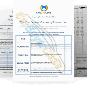 Vehicle Purchase Agreement Documents