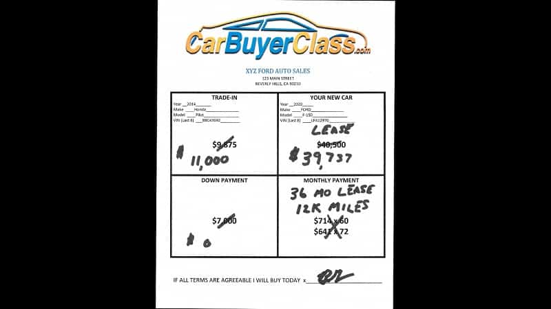 how to negotiate a leased car