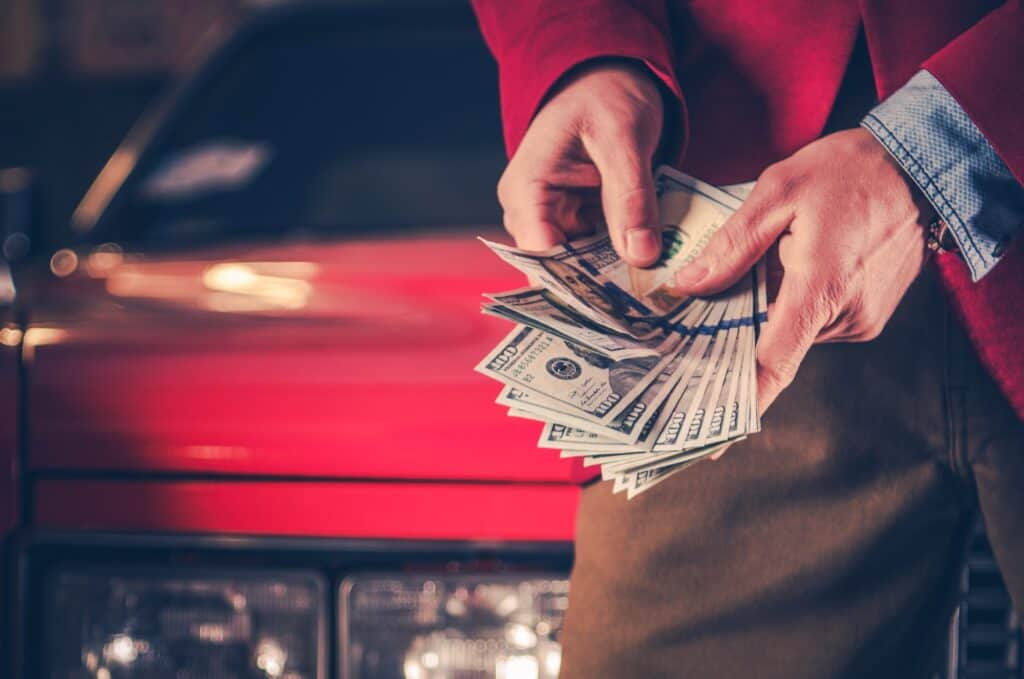 paying cash for a car